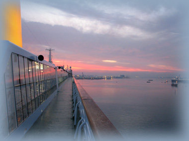 Oriana early morning Southampton