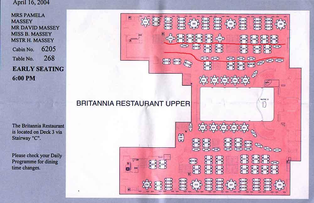 QM2 Brittania Restaurant Floor Plan Question